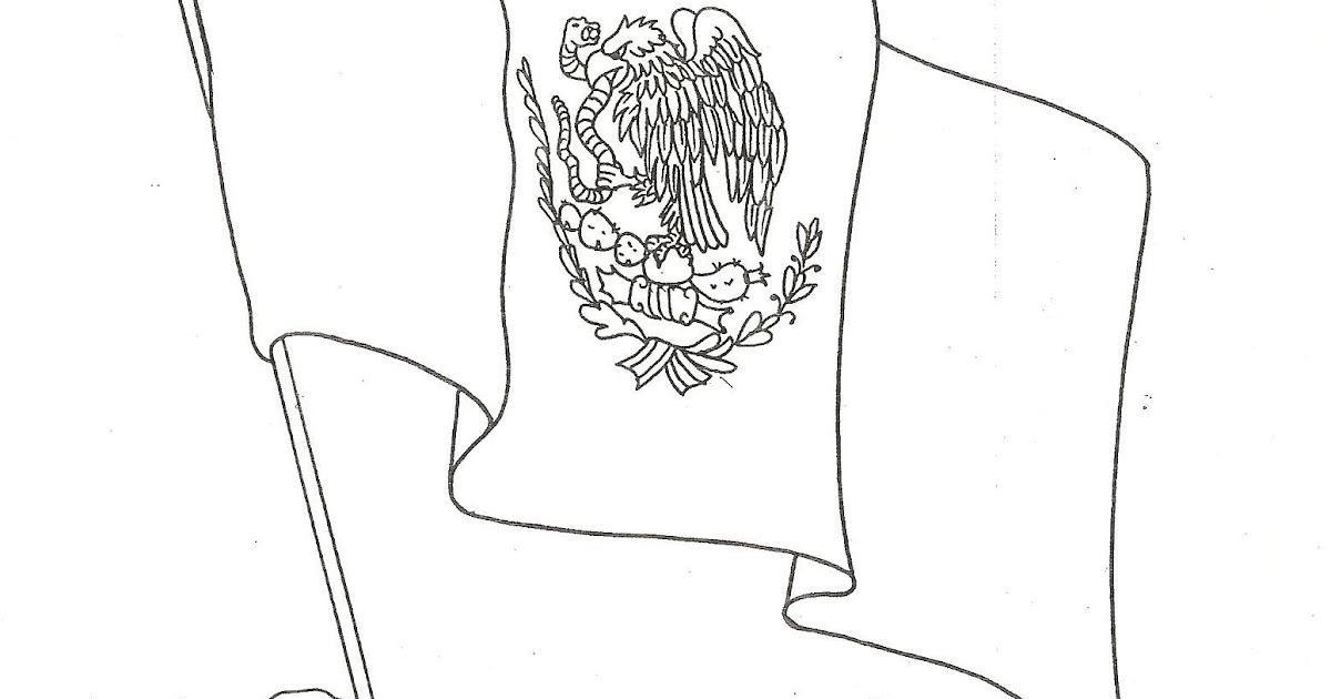 Pinto Dibujos Da De La Bandera De Mxico Dibujo Para
