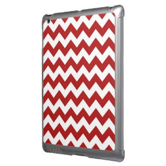 Red and White Zigzag iPad Case