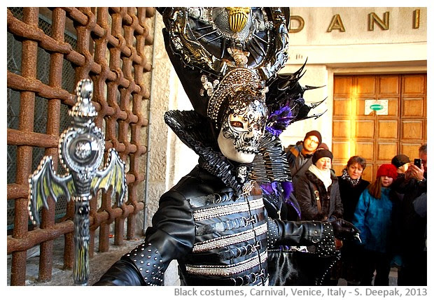 Black costumes, Venice Carnival, Italy - S. Deepak, 2013