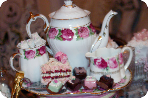 Tea Set & Faux Candies & cake