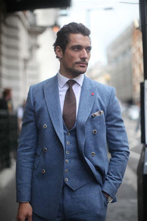 david gandy  piece suit mens fashion magazine