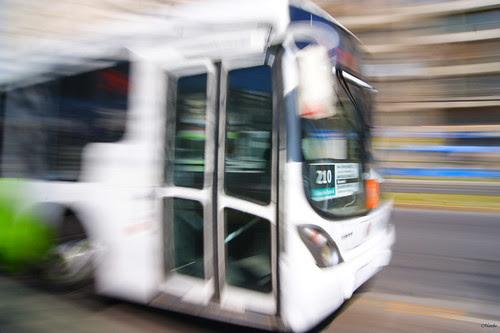 Motion blur, transantiago 2 by Manuel Venegas
