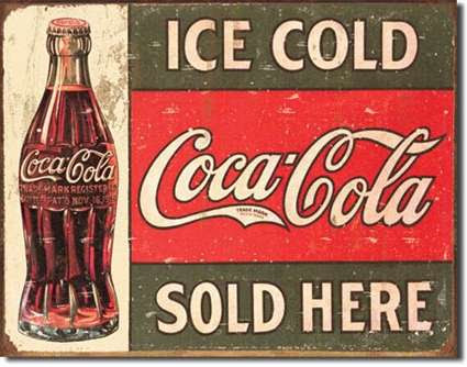 Coke Tin Signs