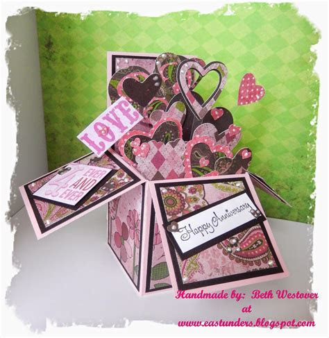 Wedding, Anniversary or Valentine's Pop Up Box Card   Pop
