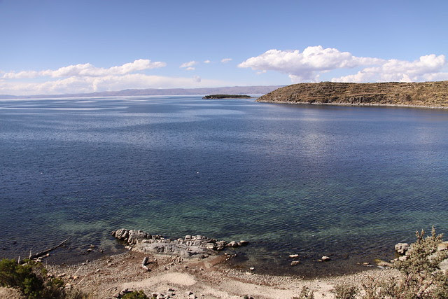 titicaca, lago, bolivia, perù