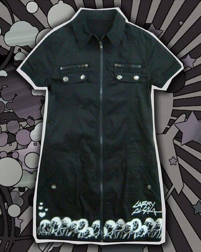 Ladies' Zippered Shirt Dress P1795