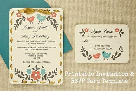 DIY Tutorial: FREE Printable Invitation and RSVP Card