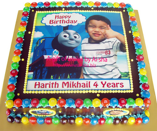 Birthday Cake Edible Image Thomas and Friends Ai-sha Puchong Jaya