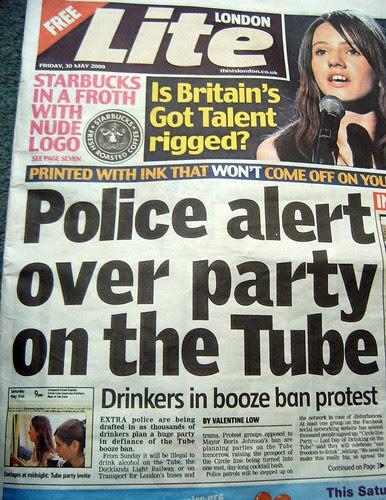 London Lite Promote Tube Party