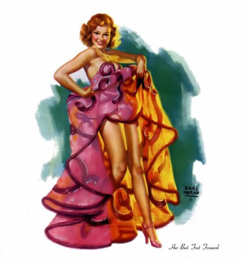 Earl Moran - & ldquo; Jej najlepszej strony & rdquo;  - luty 1951 Dziewczyny z 1951 Kalendarz - najprawdopodobniej z jednej ze swoich zdjęć Marilyn Monroe