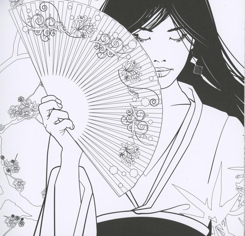 Giapponese Da Colorare Pagine Di Libri Da Colorare Immagini Da