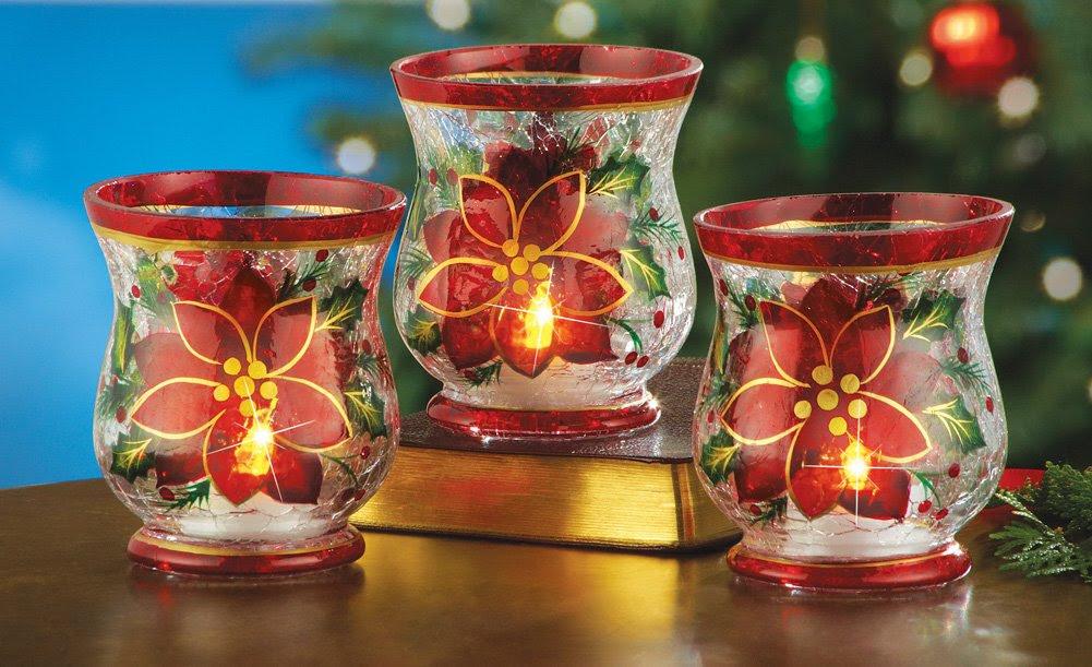 Poinsettia Candle Holders   Christmas Wikii
