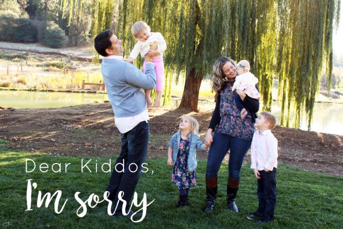 Dear kiddos, I'm sorry