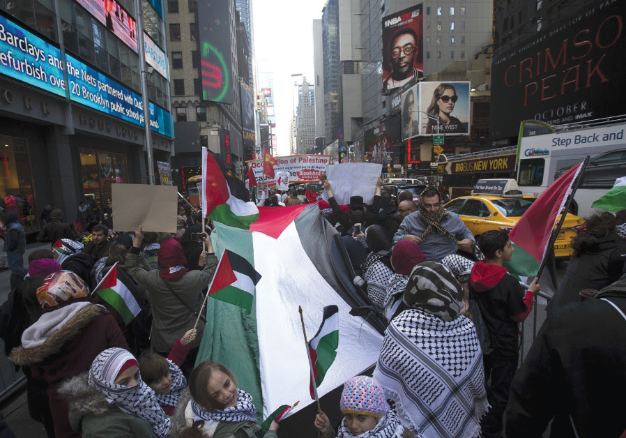 A pro-Palestinian rally in New York City
