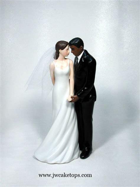 Wedded Bliss Interracial Dark Brown Groom Caucasian Bride