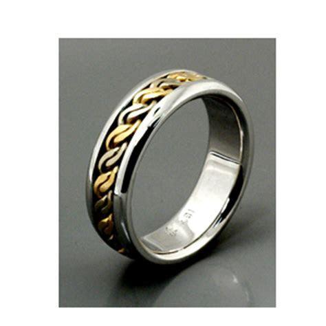 Men's Hammered White Gold Band   Samuel Jewels #138