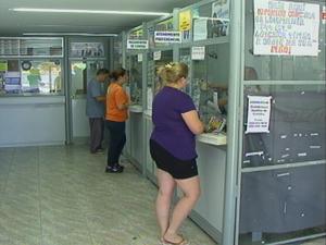 Lotérica no balneário Cassino, em Rio Grande, RS (Foto: Reprodução/RBS TV)