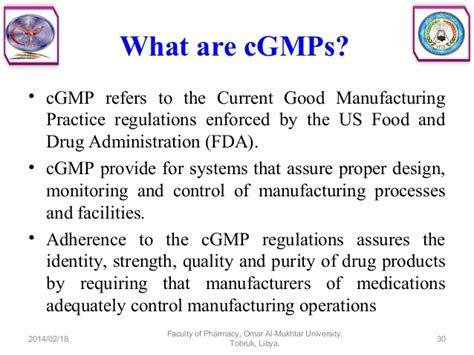 good manufacturing practices  pharmaceuticals