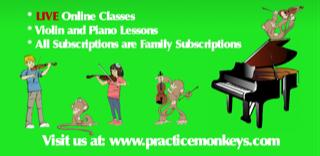 Practice Monkeys Violin Lessons