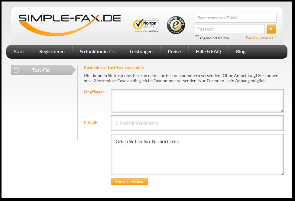 Online Fax Kostenlos