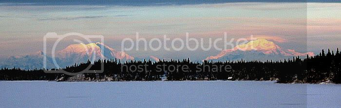 The   mountains were beautiful - Mt. Foraker and Mt. McKinley