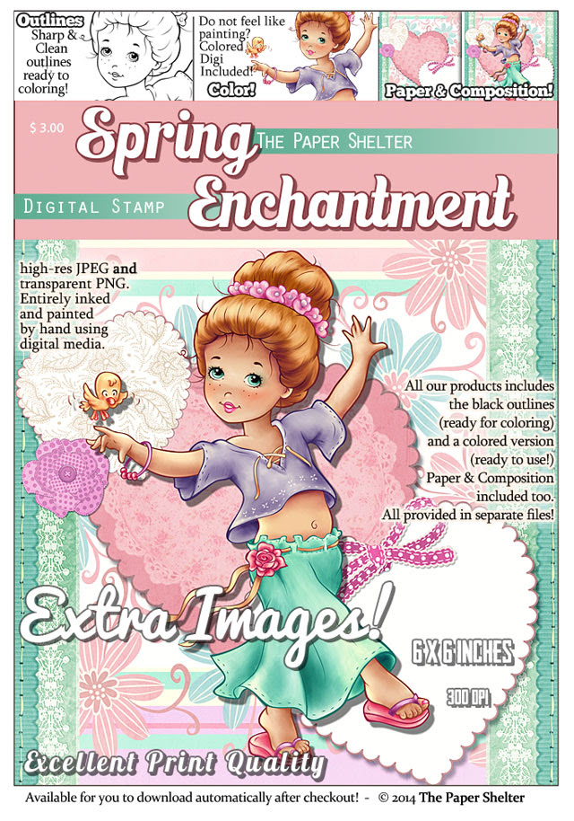 Spring Enchantment - Digital Stamp