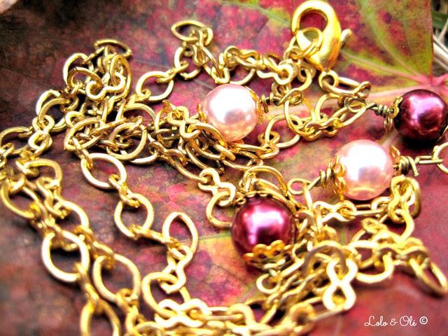 detalle cadena y perlas
