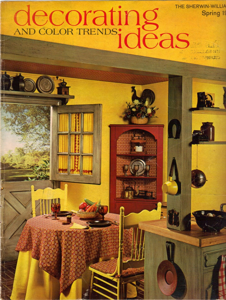 1960s decorating style -- 16 pages of painting ideas from 1969 ...