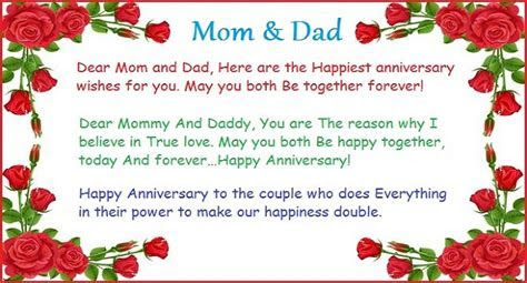 Mom And Dad Happy Anniversary Quotes. QuotesGram