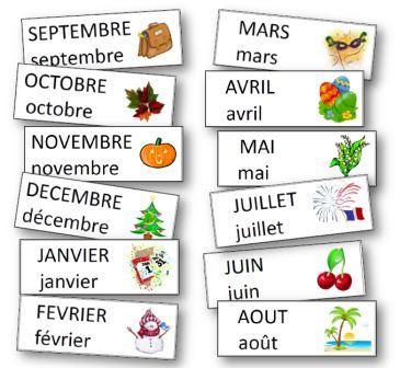 Les mois de l'année