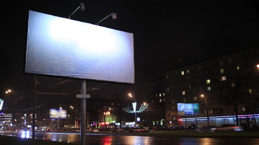 Billboard Night Stock Footage Video - Shutterstock