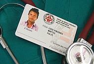 Il tesserino di Matteo Politi, per mesi spacciatosi per medico al pronto soccorso: ora è sotto inchiesta