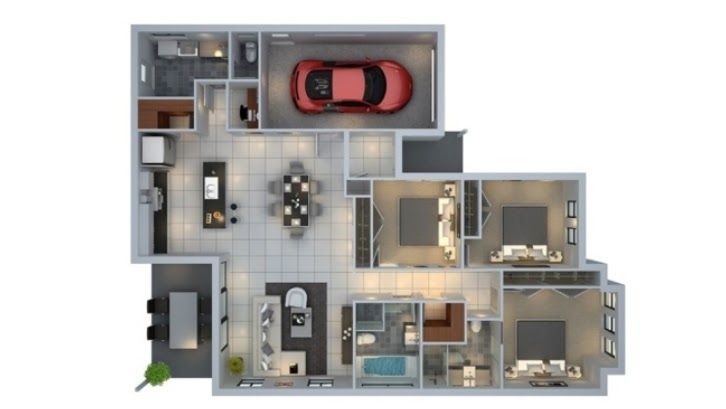 Desain Rumah Luas Tanah 96 M2 - Sekitar Rumah
