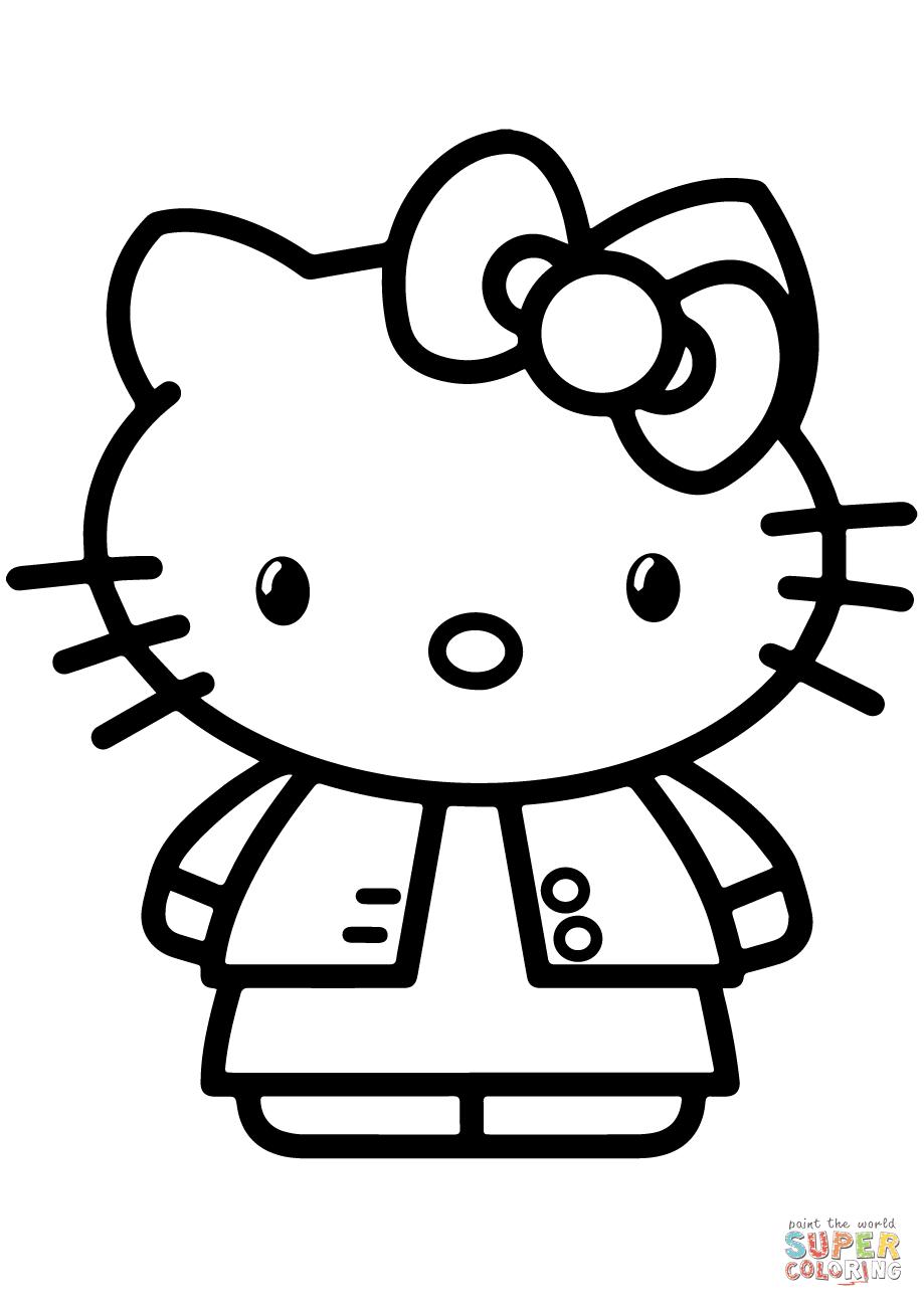Contoh Gambar Ilustrasi Kartun Hello Kitty