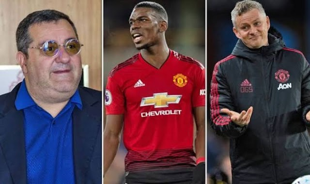 'I'm not trying to embarass the club' - Paul Pogba's agent Mino Raiola refuses to back down in war of words with Man .U. manager Ole Solskjaer
