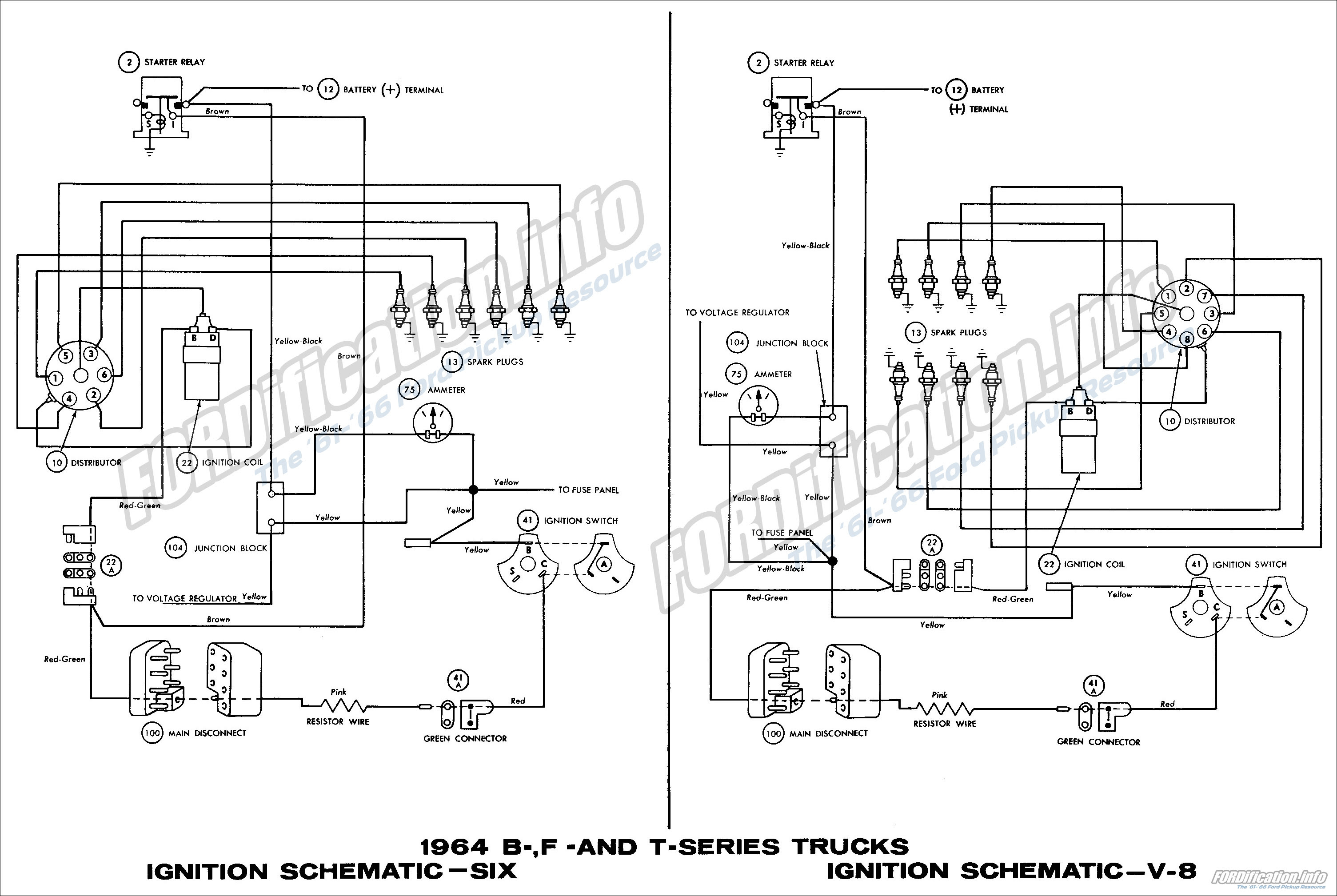 1964 Ford Truck Wiring Diagrams Fordification Info The 61 66 Ford Pickup Resource