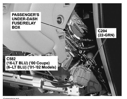 2002 Honda Accord Fuse Box Location