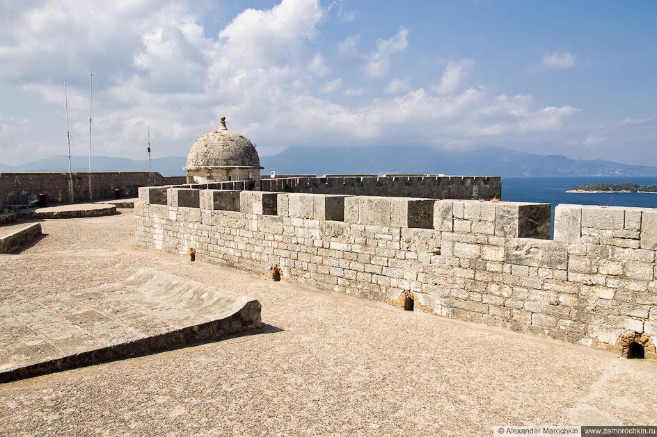 На вершине Новой Крепости в Керкире, Корфу, Греция