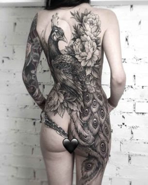 Peacock Tattoo On Full Back Best Tattoo Ideas Gallery