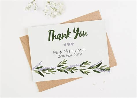 10 Wedding Thank You Card Examples You'll Love