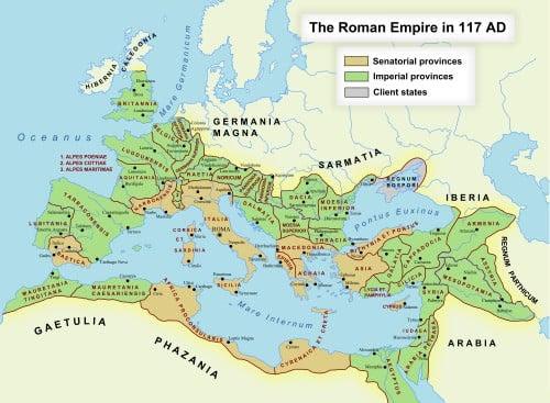 Roman Empire in 117 CE