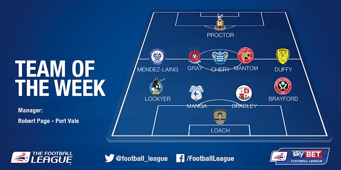 Mantom Named in the Football League's 'Team of the Week'