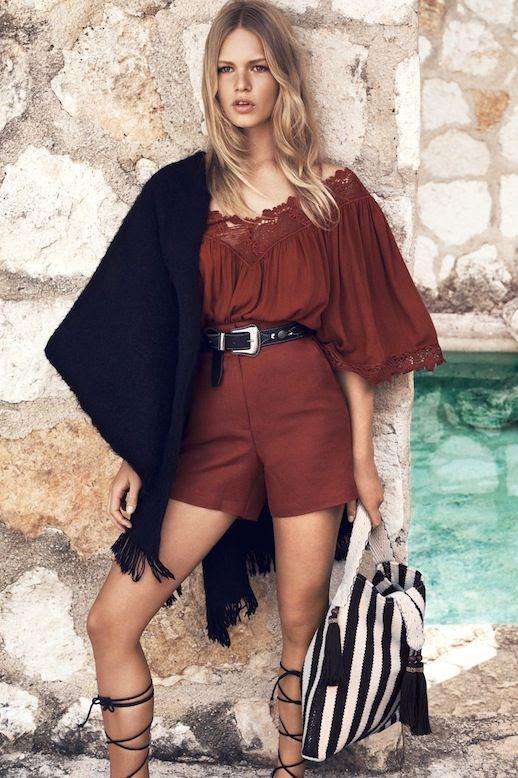 1 Le Fashion Blog Mango Summer 2015 Lookbook Anna Ewers Crochet Top Belt High Waisted Shorts Lace Up Sandals photo 1-Le-Fashion-Blog-Mango-Summer-2015-Lookbook-Anna-Ewers-Crochet-Top-Belt-High-Waisted-Shorts-Lace-Up-Sandals.jpg