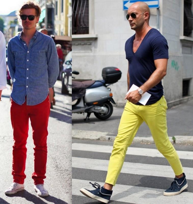 Resultado de imagem para look coloridos para homem 2017