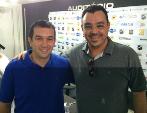Alan Oliveira - diretor de marketing do ABC e Marcelo Abdon - vice-presidente de marketing do ABC (Foto: Jocaff Souza/GloboEsporte.com)