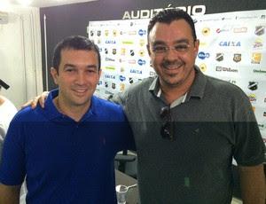 Alan Oliveira - diretor de marketing do ABC e Marcelo Abdon - vice-presidente de marketing do ABC (Foto: Jocaff Souza/GloboEsporte.com)