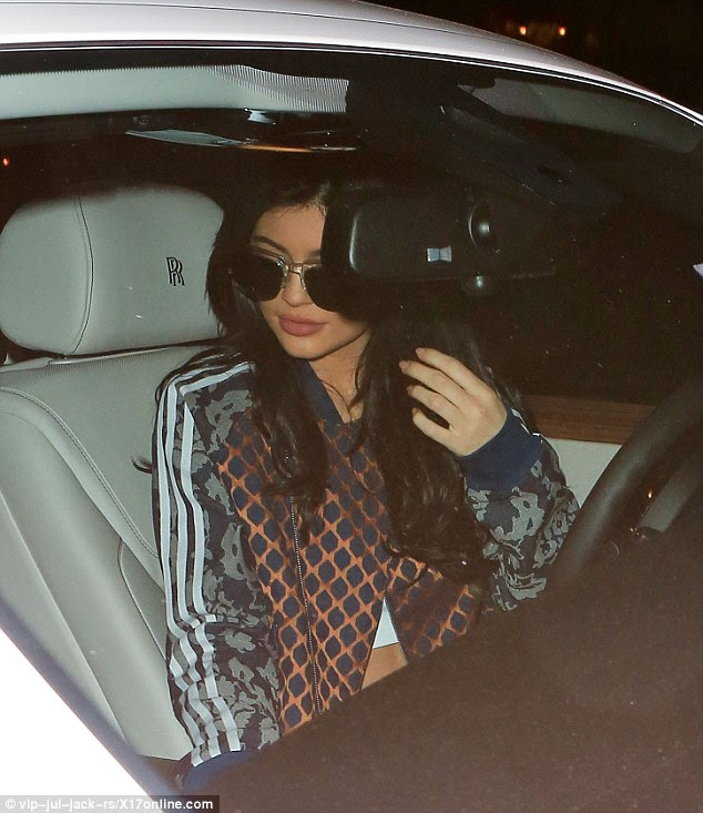Rolling in the Rolls: The stunning starlet was spied spinning around in her luxury Rolls Royce