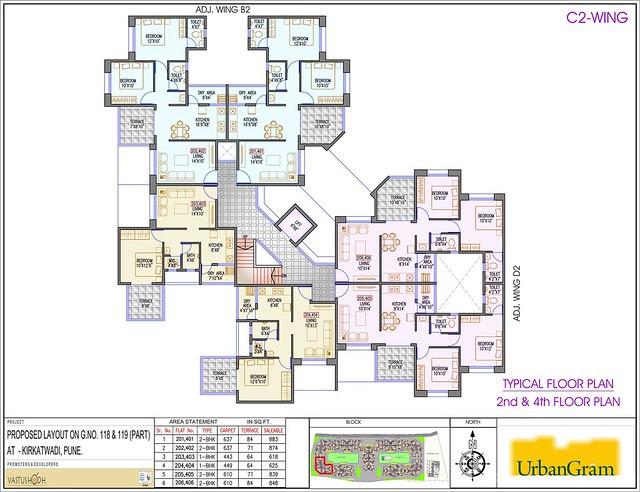 C2 2nd & 4th Floor - 2 BHK Flat for Rs. 25 Lakhs at Urbangram Kirkatwadi on Sinhagad Road Pune 411 024