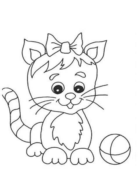 cute cat  ball coloring