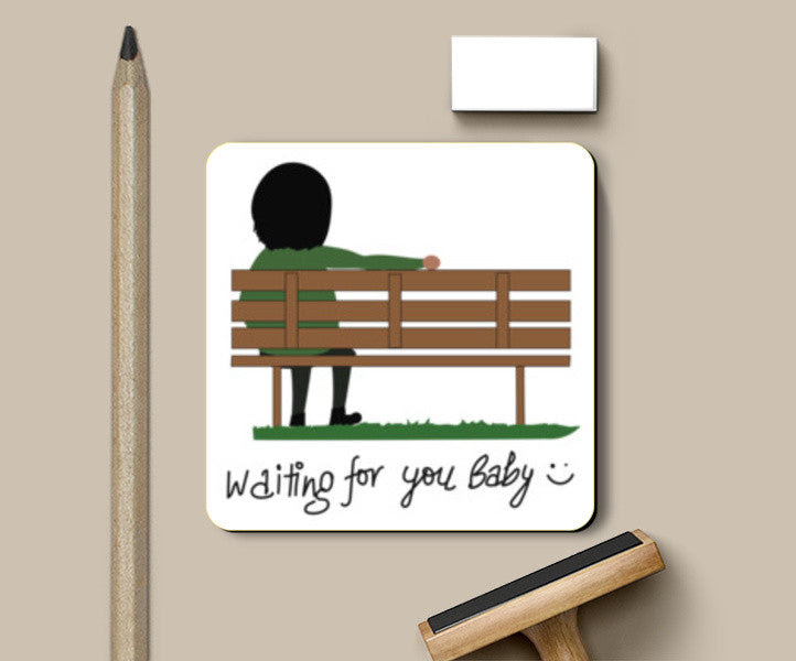 Waiting For You Baby Coaster Coasters Artist Tripund Media Works